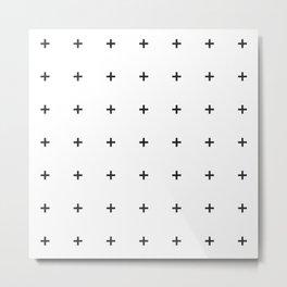 PLUS ((black on white)) Metal Print