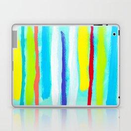 Ocean Blue Summer blue abstract painting stripes pattern beach tropical holiday california hawaii Laptop & iPad Skin