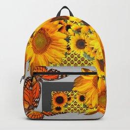 WESTERN SUNFLOWERS & MONARCH BUTTERFLIES FLORAL Backpack