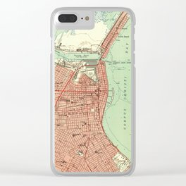 Vintage Map of Corpus Christi Texas (1951) Clear iPhone Case
