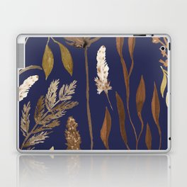 Fall Foliage on Navy Laptop & iPad Skin