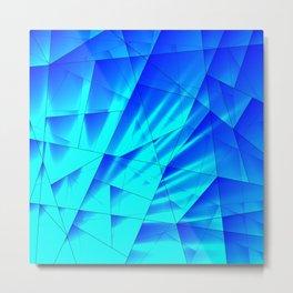 Bright sunshine on celestial and blue triangles of irregular shape. Metal Print