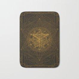 Dark Matter - Gold - By Aeonic Art Bath Mat