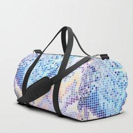Pixelated Nebula Blue Duffle Bag