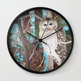 How Blue Your Eyes Do Appear, Barred Owl Wall Clock