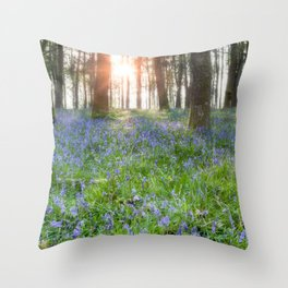 Bluebell Sunrise Throw Pillow