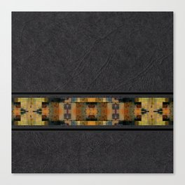 Textured Southwestern Stripe Pattern Canvas Print