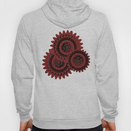 Red Glistens in Crystal  Hoody