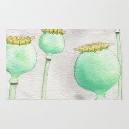 Four Poppy Pods Rug