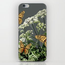 "CREAM COLORED BUTTERFLIES ""SPRING SONG"" LACE FLOWERS iPhone Skin"