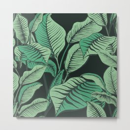 Exotic Tropical Banana Palm Leaf Print Metal Print