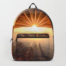Mesa Arch Sunburst  by Lena Owens Backpack