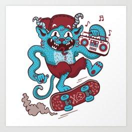 Rad Meow Art Print