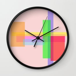 rectangle multiples Wall Clock