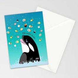 Me Want Sushi Stationery Cards