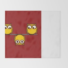 A whole new perspective for the owl Throw Blanket