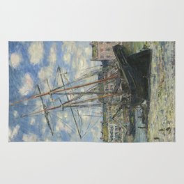 Claude Monet - Boats Lying at Low Tide at Facamp Rug