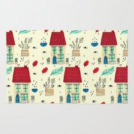 little houses pattern Rug
