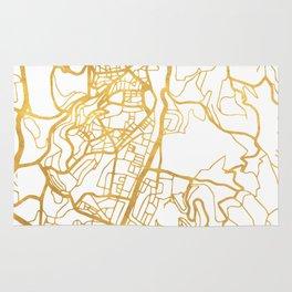 JERUSALEM ISRAEL PALESTINE CITY STREET MAP ART Rug