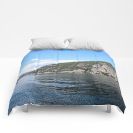Roger's Rock on Lake George in the Adirondacks Comforters