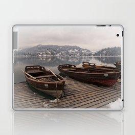 Rowing Boats At The Lake Bled Laptop & iPad Skin