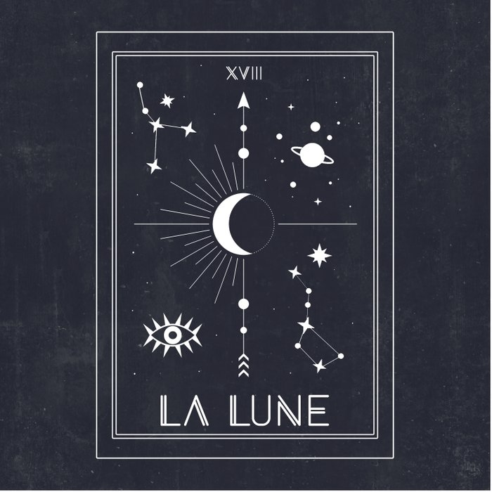 The Moon or La Lune Tarot Duvet Cover