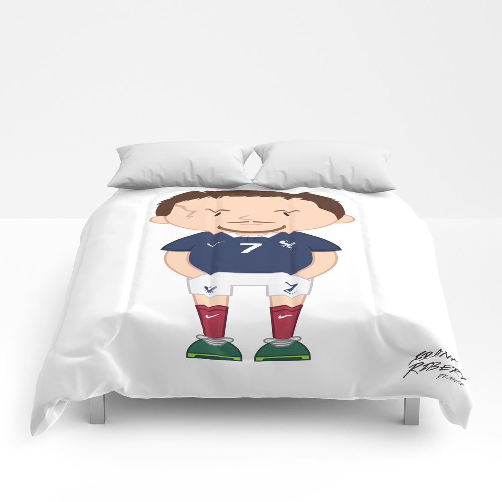 Franck Ribéry - France - World Cup 2014 Comforter by Toonsoccer CMF9053105