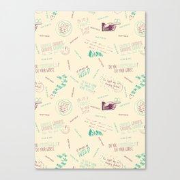 Doodlethrob (Tegan and Sara) creme Canvas Print