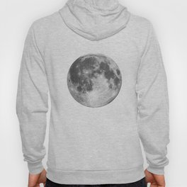 Full Moon phase print black-white monochrome new lunar eclipse poster home bedroom wall decor Hoody