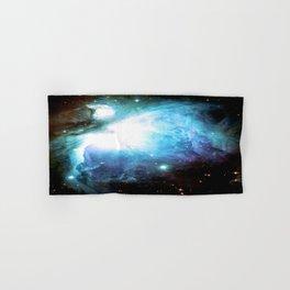 Orion Nebula Aqua Periwinkle Gold Hand & Bath Towel