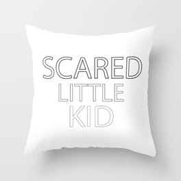 Scared Little Kid Throw Pillow