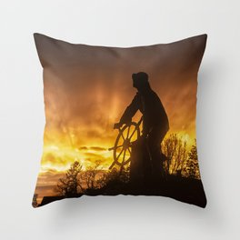 Fisherman's Memorial Sunset Throw Pillow