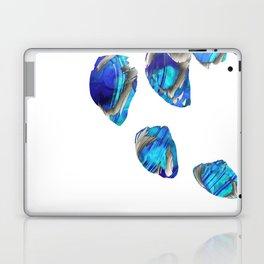 Blue And White Abstract Art - Falling 1 - Sharon Cummings Laptop & iPad Skin