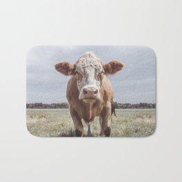 Animal Photography | Cow Portrait Photography | Farm animals Bath Mat
