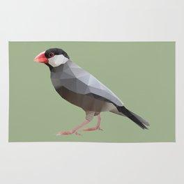 Java Sparrow polygon art Rug