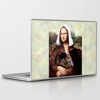 scott pilgrim Laptop & iPad Skins featuring Mona Lisa Thanksgiving Pilgrim  by Gravityx9