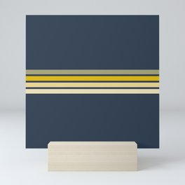 Racing Retro Stripes Mini Art Print