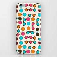 sunglasses iPhone & iPod Skins featuring Sunglasses by Valendji