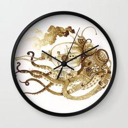 Nautilus Steampunk Octopus Wall Clock