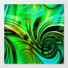 Curls Deluxe Green Canvas Print