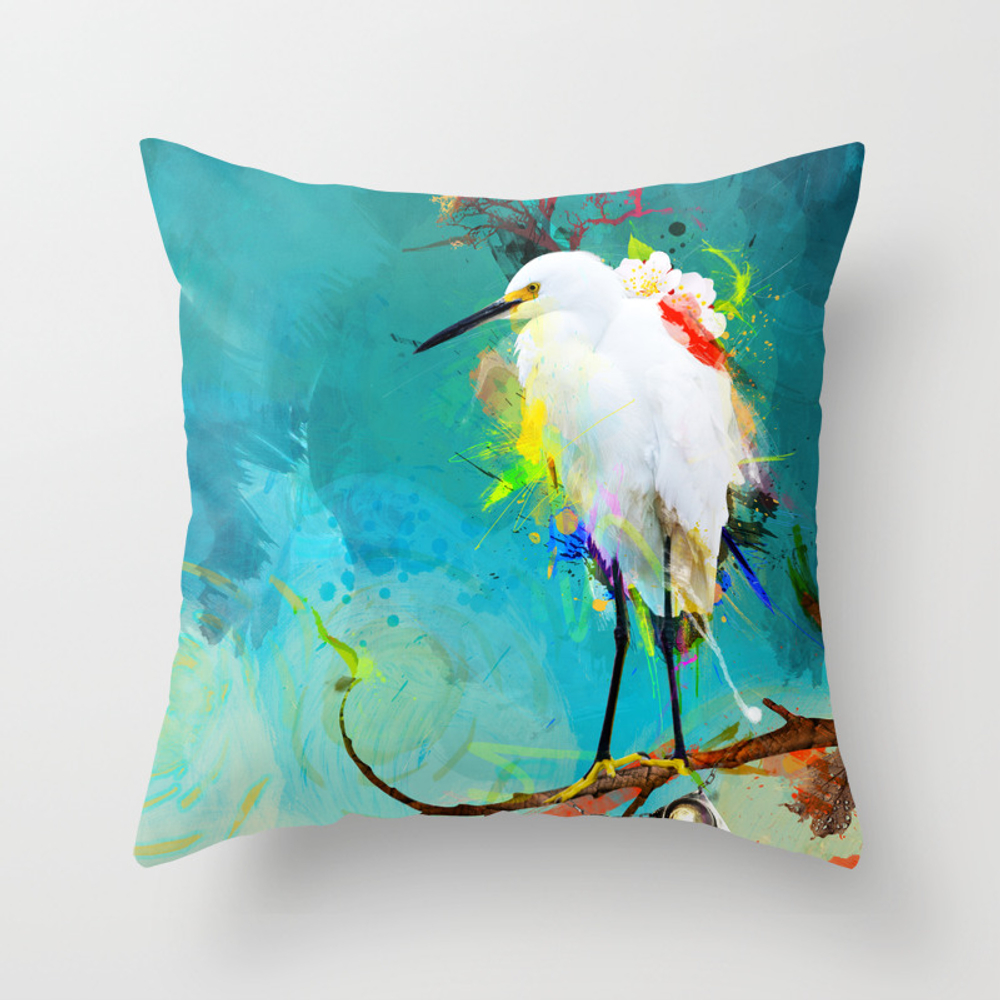 Evening Sun Throw Pillow by Archann PLW186534