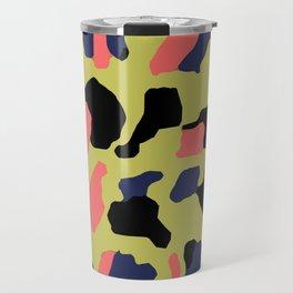 Yellow Camo Travel Mug