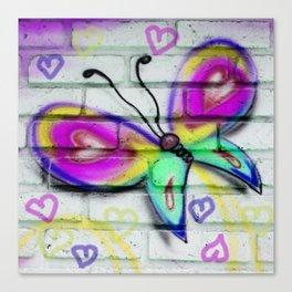Butterflies and Bricks Canvas Print