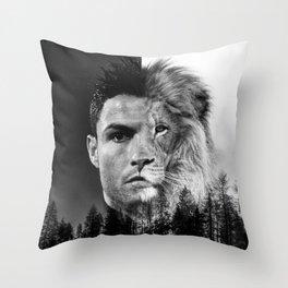 Cristiano Ronaldo Beast Mode Throw Pillow