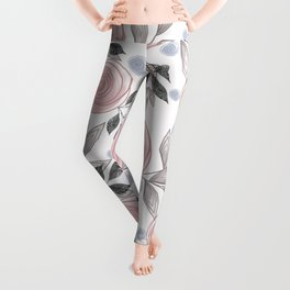 Delicate floral pattern. Leggings