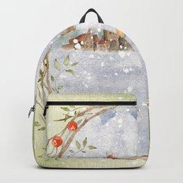 Christmas vintage fox Backpack