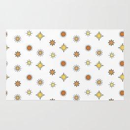Sun pattern Rug