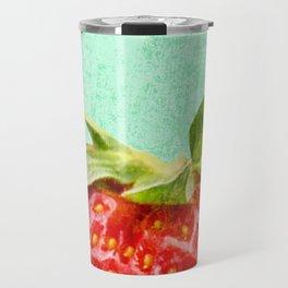 Strawberry Top Travel Mug