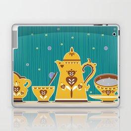 Retro coffee for one illustration Laptop & iPad Skin