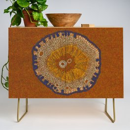Growing - ginkgo - plant cell embroidery Credenza